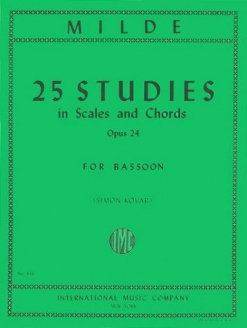 25 Studies In Scales and Chords Op.24: Bassoon (International)