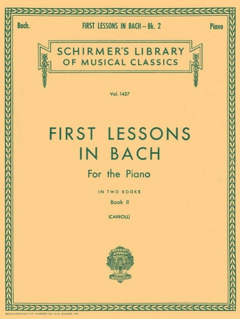 First Lessons: Book 2 Piano Studies (Schirmer)