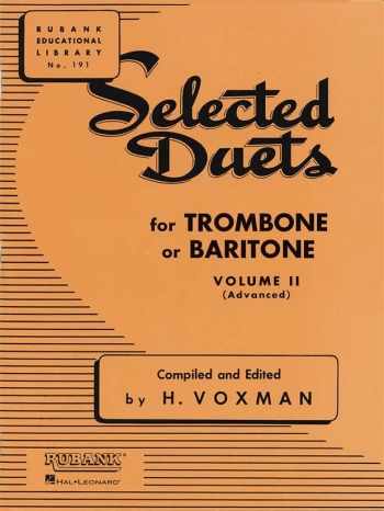 Selected Duets For Trombone: Book 2