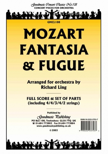Orchestra: Mozart Fantasia And Fugue Orchestra Score And Parts