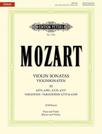 Sonatas: Complete: Vol 3: Violin and Piano (Peters)