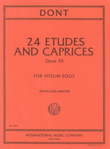 Etudes and Caprices: Op35: Violin Solo