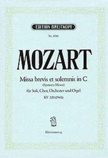Missa Brevis C: K220: Vocal (Breitkopf)