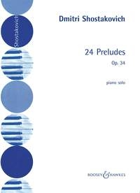 24 Preludes: Op.34: Piano (B&H)