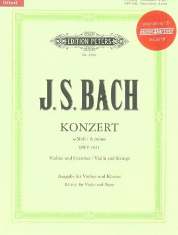 Concerto A Minor  No.1 Bwv1041: Violin & Piano Book & Cd (Peters)