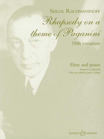 18Th Variation From Rhapsody On A Theme Of Paganini: Flute & Piano (B&H)