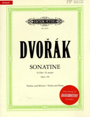 Sonatine: G Major: Op100: Violin and Piano (Peters)