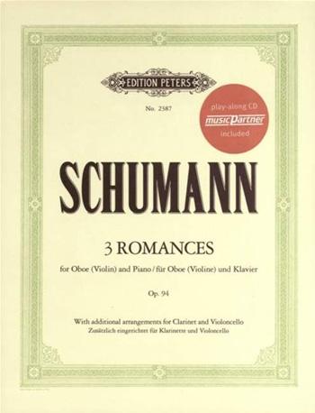 3 Romances Op94: Oboe & Piano Book & CD  (Peters)
