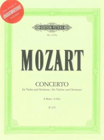 Violin Concerto No.5 A Major Kv219: Violin & Piano: Book & Cd (Peters)