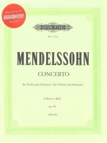 Concerto: E Minor: Op64: Violin and Piano Book & Cd (Peters)