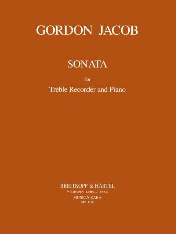 Sonata: Treble Recorder and Piano (Breitkopf)