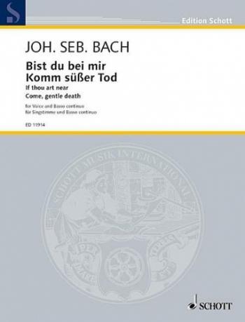 Bist Du Mir: If Thou Art Near: Bb: Voice and Piano (Schott)