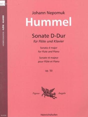 Sonata: D: Op50: Flute & Piano (Peters)