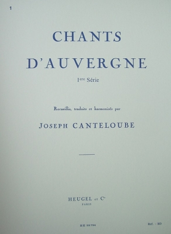 Chants Dauvergne: Vol 1: Medium Voice & Piano