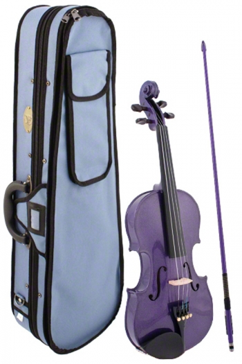 Stentor Harlequin 3/4 Size Purple Violin Outfit