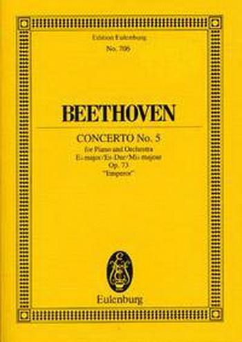 Piano Concerto No.5: Eb Major: Op73: Emperor: Miniature Score