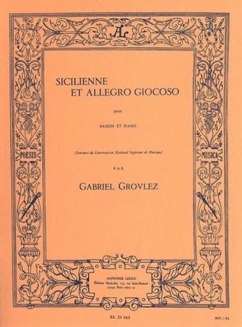 Sicilienne Et Allegro Giocoso: Bassoon & Piano (Leduc)