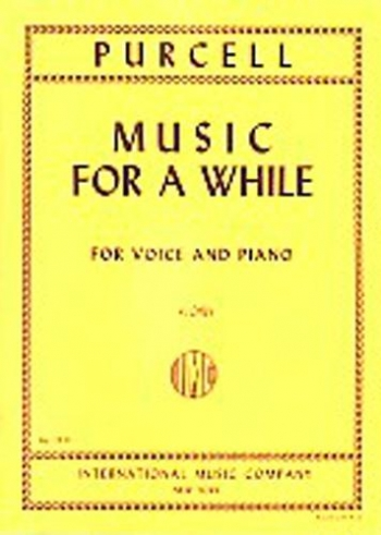 Music For A While: Low Voice and Piano