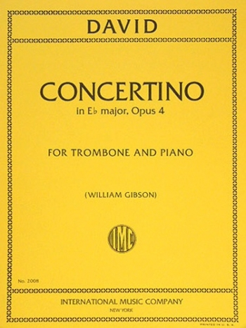 Concertino: Op4: Trombone and Piano