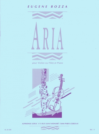 Aria For Flute Or Violin & Piano (Leduc)