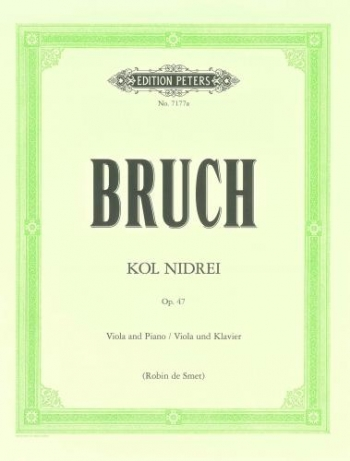 Kol Nidrei: Op47: Viola & Piano Arr De Smet (Peters)