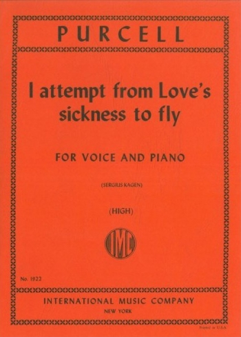 I Attempt From Loves Sickness: High Voice