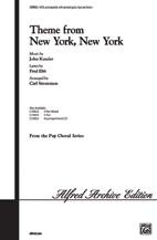 New York New York: Vocal: Satb (Kander)