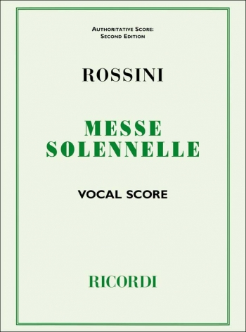 Petite Messe Solennelle: Vocal Score (Ricordi)