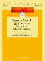 Clarinet Sonata Op.120 No.1 F Minor: Book & CD (Carl Fischer)