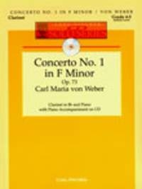 Clarinet Concerto F Minor: No 1 Op 73: Clarinet & Piano: Book & cd (fischer)