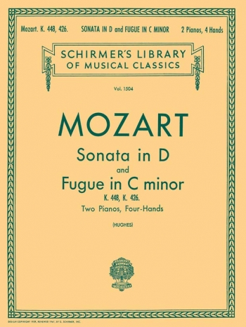 Sonata In D: K448: and Fugue In C Minor: K426: Piano (Schirmer Ed)