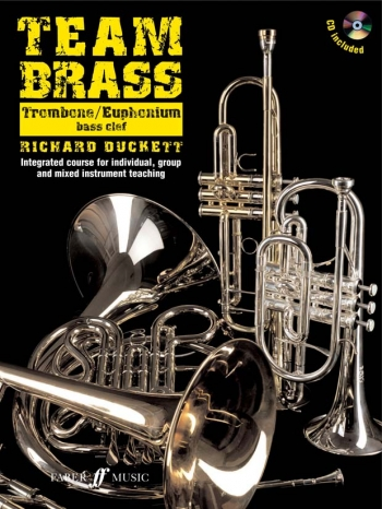Team Brass: Trombone/Euphonium: Bass Clef: Book & Cd  (duckett)