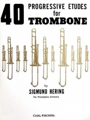 40 Progressive Etudes: Trombone: Bass Clef (hering)