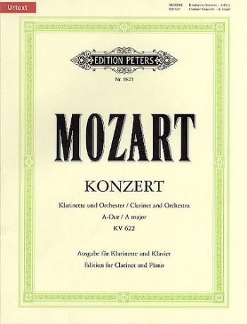Clarinet Concerto: A Major: K622: A Clarinet & Piano (Peters)