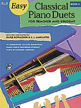 Easy Classical Piano Duets: Book 3