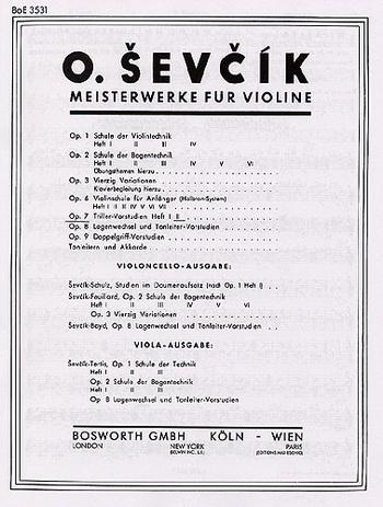 The Original Sevcik Violin Studies Op.7 Part 2 (Bosworth)