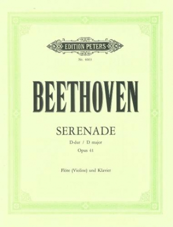 Serenade D Major Op.41: Violin & Piano (Peters)