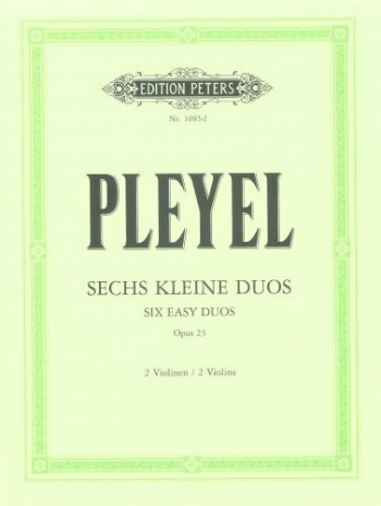 6 Duos: Op23: Violin