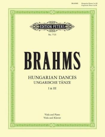 Hungarian Dances: No 1 and 3: Viola and Piano (Peters)