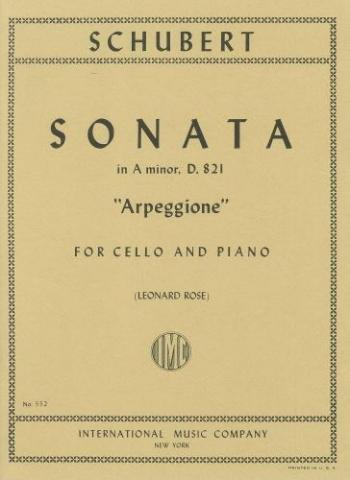 Sonata: Arpeggione: A Minor: Cello  (International)