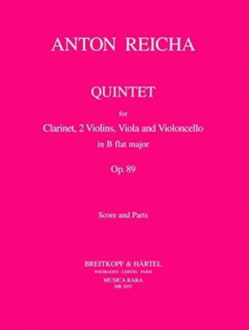 Quintet: Op89: Clarinet and Strings