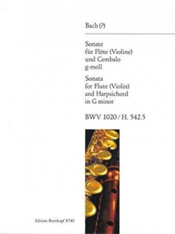 Flute Sonata G Minor Bwv1020: Flute Or Violin & Piano (Breitkopf)