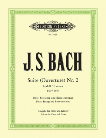 Suite No2: Bwv1067: Flute & Piano (Peters)