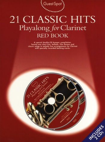 Guest Spot: 21 Classic Hits: Red Book: Clarinet: Book & CD