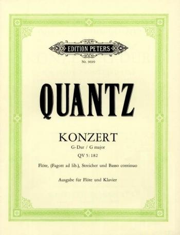 Concerto G Major: QV5: 182: Flute & Piano (Peters)