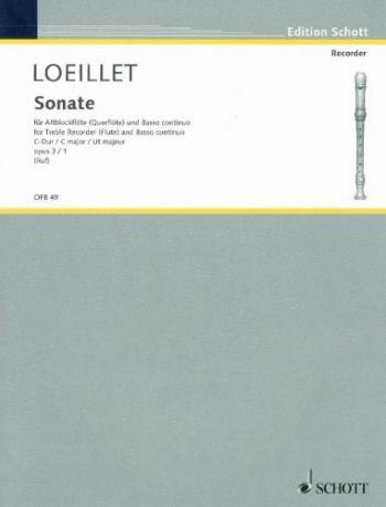Sonate C Major: Flute Or Treble Recorder (Schott)