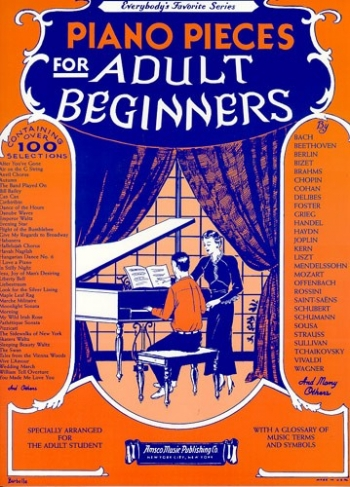 Piano Pieces For Adult Beginners: Piano Vocal Guitar