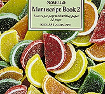 Manuscript: 4 Stave 32 Page A5 Novello Book 2  Interleaved - Landscape Orange & Lemon Slices
