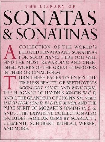 Library Of Piano Sonatas and Sonatinas: Book 1