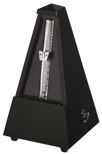 Wittner 816 Maelzel Black Wooden Gloss Metronome (Bell)